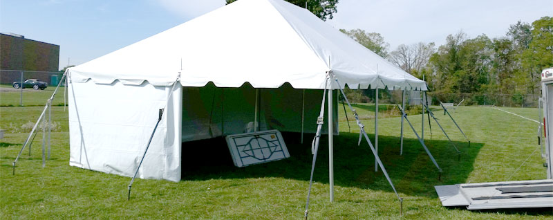 Pole Tent with sidewalls